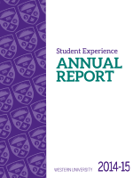 Cover of the 2014-15 Student Experience Annual Report.