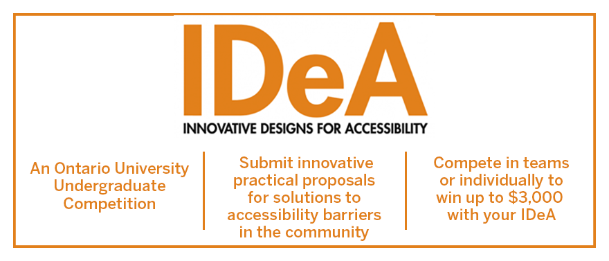 IDeA competition for accessibility solutions