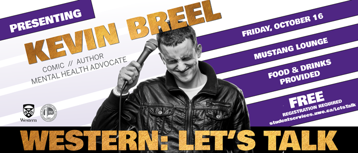 Banner for Kevin Breel speaker event October 16